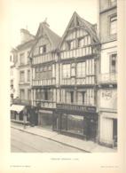 Caen - Lot De 2 Photos De Vieilles Maisons Normandes - Architecture, Maison (b233) - Architecture