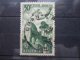 """VEND BEAU TIMBRE DE POSTE AERIENNE D ' ALGERIE N° 9 , CACHET """" ORAN R.P. """" !!! (d) - Algérie (1924-1962)"""
