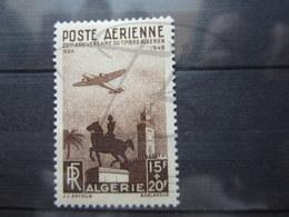 VEND BEAU TIMBRE DE POSTE AERIENNE D ' ALGERIE N° 13 , X !!! - Algérie (1924-1962)