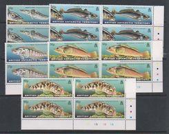 British Antarctic Territory (BAT) 1999 Fish Of The Southern Ocean 5v Bl Of 4 (corner) ** Mnh (39816A) - Ongebruikt