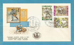FDC 1963  CAMPAGNE TEGEN HONGER  1 Env...ZIE SCAN.      !!!  SUPER SALE !!! ....... FD87 - FDC