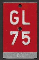 Velonummer Glarus GL 75 - Plaques D'immatriculation
