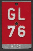 Velonummer Glarus GL 76 - Plaques D'immatriculation