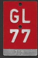 Velonummer Glarus GL 77 - Plaques D'immatriculation