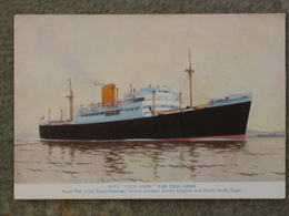 ROYAL MAIL LINE LOCH AVON OFFICIAL - Steamers