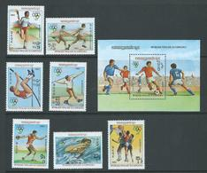 Cambodia Kampuchea 1983 Olympic Games Los Angeles Set 7 & Miniature Sheet MNH - Cambodge