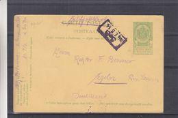 Belgique - Carte Postale De 1914 - Feldpost - Entiers Postaux - Oblit Cachet Rectangulaire - Exp Vers Egeln - WW I