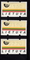613446868 AUTOMAATZEGELS SET MICHEL 1.S2 1995 - Lituanie