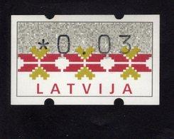 613447069 AUTOMAATZEGELS SET MICHEL 1. 1994 - Lettonie