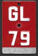 Velonummer Glarus GL 79 - Number Plates
