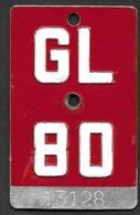 Velonummer Glarus GL 80 - Plaques D'immatriculation