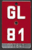 Velonummer Glarus GL 81 - Plaques D'immatriculation