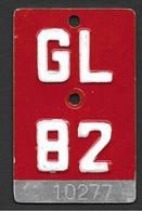 Velonummer Glarus GL 82 - Plaques D'immatriculation