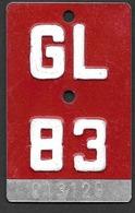 Velonummer Glarus GL 83 - Plaques D'immatriculation