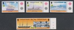British Antarctic Territory (BAT) 1999 Australia / Maritime History 5v (+margin) ** Mnh (39918A) - Ongebruikt