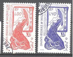 Saint Pierre Et Miquelon: Yvert N° 472/473°; La Pèche; Morue - St.Pierre & Miquelon