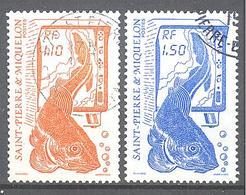 Saint Pierre Et Miquelon: Yvert N° 480/481°; La Pèche; Morue - St.Pierre & Miquelon