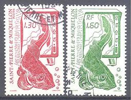 Saint Pierre Et Miquelon: Yvert N° 490/491°; La Pèche; Morue - St.Pierre & Miquelon