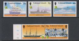 British Antarctic Territory (BAT) 1999 Australia / Maritime History 5v ** Mnh (39918B) - Ongebruikt