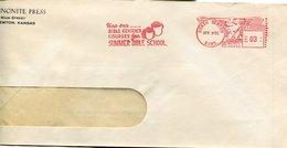 36412 U.s.a. Red Meter/freistempel/ema/north Newton Kansas 1951 Bible Centered Courses For Summer Bibel School - Christianity