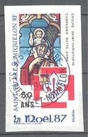 Saint Pierre Et Miquelon: Yvert N° 483°; Noël; Vitrail - St.Pierre & Miquelon