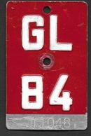 Velonummer Glarus GL 84 - Number Plates