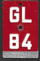Velonummer Glarus GL 84 - Plaques D'immatriculation