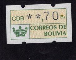 613455877 AUTOMAATZEGELS SET MICHEL 1 1989 - Bolivie