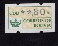 613456042 AUTOMAATZEGELS SET MICHEL 1 1989 - Bolivie