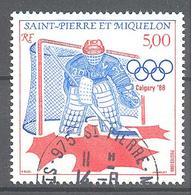 Saint Pierre Et Miquelon: Yvert N° 487°; Hockey Sur Glace - St.Pierre & Miquelon