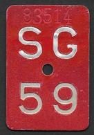 Velonummer St. Gallen SG 59 - Plaques D'immatriculation