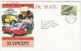 St. Vincent, Letter Cover Travelled 1990 B180725 - St.Vincent (1979-...)