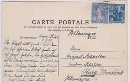 CP  - N°237 + N°257 Variété: GRANDE CASSIRE (haut De La Tête Du Cheval Depuis Les Rênes Aux Lignes D'encadrement) - Marcophilie (Lettres)