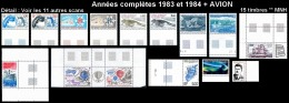 TAAF Années Complètes 1983 & 1984 + AVION - Yv. 101 à 108 + PA 79 à 85 ** SUP  Faciale= 9,18 EUR - 15 Timbres  ..Réf - Full Years