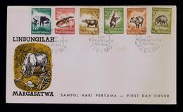 Wild Animals Faune INDONESIA Fdc 1959 Reptiles Sp5361 - Stamps