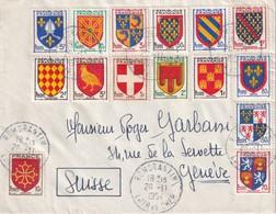FRANCE 1954 LETTRE DE ROMORANTIN POUR GENEVE - 1921-1960: Modern Period