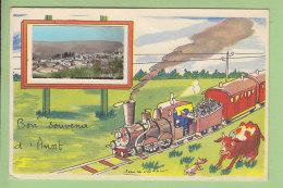 ANOST : Bon Souvenir, Train Et Vue Générale. 2 Scans. Edition ? - France