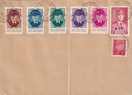 FRANCE 1942 ENVELOPPE DE LA ROCHE SUR FORON  PETAIN + VIGNETTE - Postmark Collection (Covers)