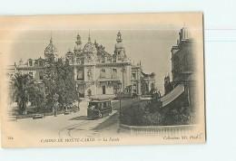 MONACO - MONTE CARLO -  La Façade Du Casino Animée - Passage Du Tramway - Dos Simple - 2 Scans - Monte-Carlo