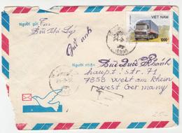 Vietnam, Airmail Letter Cover Travelled 1990 B180725 - Viêt-Nam