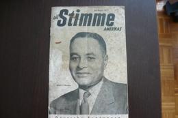 """Magazine, """"Die Stimme Amerikas"""", Ralph J. Bunche, Juli- August 1951 - Film & TV"""