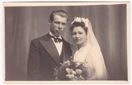 Ancienne Carte Photo Mariage Couple - Persone Anonimi