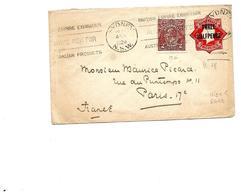 Envelope Hig. & G. 18 + TP Yv. 38 SYDNEY 1924 Vers Paris. Cote = R - Postal Stationery