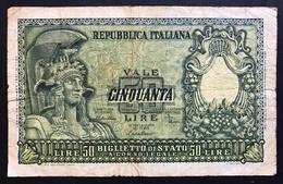 50 Lire Italia Elmata 1951 Di Cristina LOTTO 1306 - [ 2] 1946-… : Repubblica