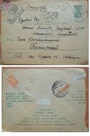 Envelope Russia  Ukraine Advertising Voluntary Fire Insurance Kiev 1934 - 1923-1991 URSS