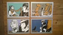 Lot De 4 Cartes Postales CORTO MALTESE Hugo PRATT - Ilustradores & Fotógrafos