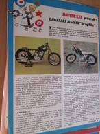Page Issue De SPIROU Années 70 / MISTER KIT Présente : LA MOTO KAWASAKI MACH III DRAG BIKE De REVELL - Francia