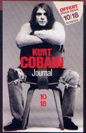 « JOURNAL » COBAIN, Kurt – Collection 10 – 18 « Musique Et Compagnie » OH Editions, Paris (2002) - Musique & Instruments