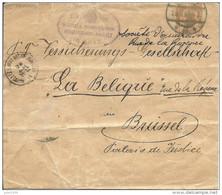 """ENTIER POSTAL ..-- Vieux COURRIER 1904 Vers """" LE BELIQUE ??? """" , Société D ' Assurance , Rue De La Régence . - Stamped Stationery"""