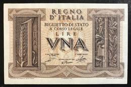 1 LIRA Impero 1939 Q.FDS/FDS   LOTTO 1318 - [ 1] …-1946 : Kingdom